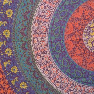 Mandala Wandkleed Red Indian - Mandala Kleed - Mandala Bedsprei - Tafeldecoratie - 240 cm x 210 cm