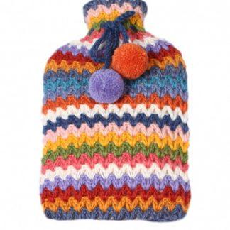 Warmwaterzak in gehaakte hoes - kleurrijk - fair trade