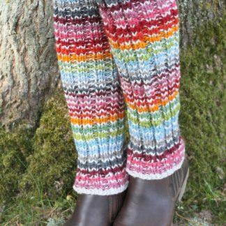kleurrijke wollen beenwarmers - hoxton