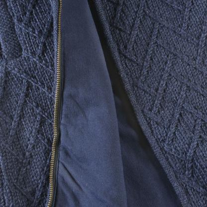 Wollen vest - katoenen voering - met capuchon