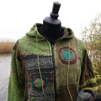 Lang vest - groen - Fair trade - alternatieve kleding - AnnaS Webshop