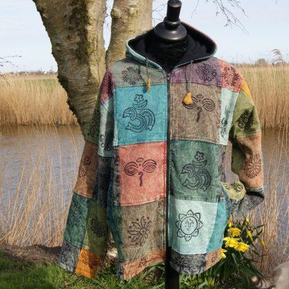 Katoenen jas met capuchon - gevoerd