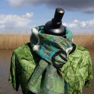 Alternatieve sjaal - zijde - gerecycled