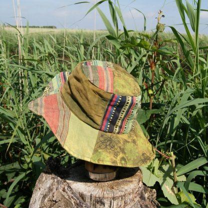 Groene flaphoed - Nepal hoed - zonnehoed
