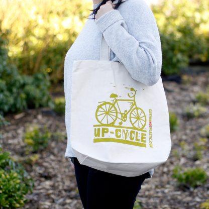 Katoenen schoudertas - boodschappen tas - Eco - geen plastic