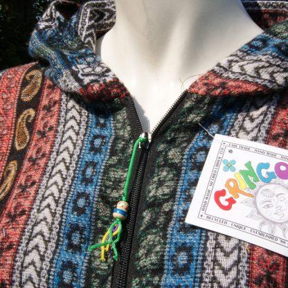 Festival vest met capuchon en rits