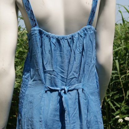 Gringo jurkje blauw met smalle schouderbandjes