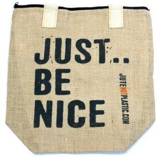 Eco tas - jute - just Be Nice