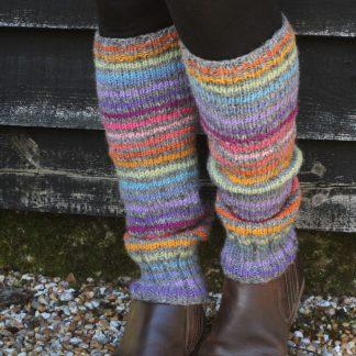 kleurrijke wollen beenwarmers