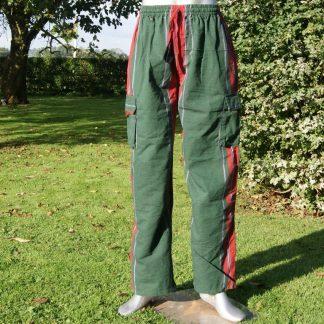 Cargo broek - Nepal broek - groen rood zwart