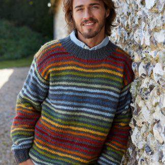 Gestreepte wollen trui - kleurrijk